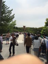 伊勢神宮の入り口 宮川を渡る橋の手前