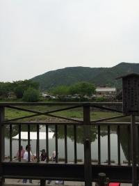 宮川を渡る橋の上から