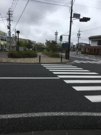 雨上がりの飯田 交差点